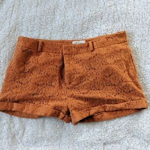 Forever 21 Yellow Lace Shorts